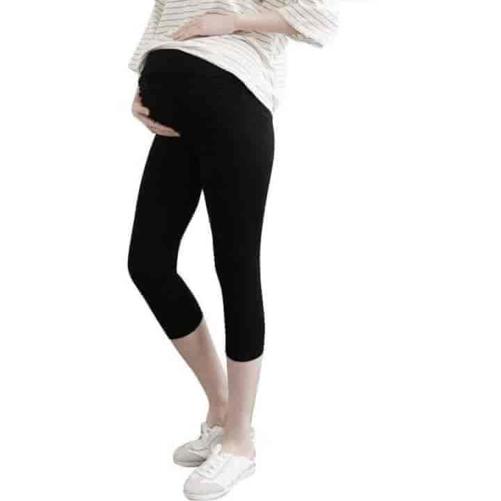 Maternity Summer Elastic Pregnancy Leggings - mybabyflame