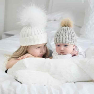 Mother & Baby Beanie Hat - mybabyflame