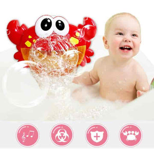 Music Crab Bath Toy Bubble Maker - mybabyflame