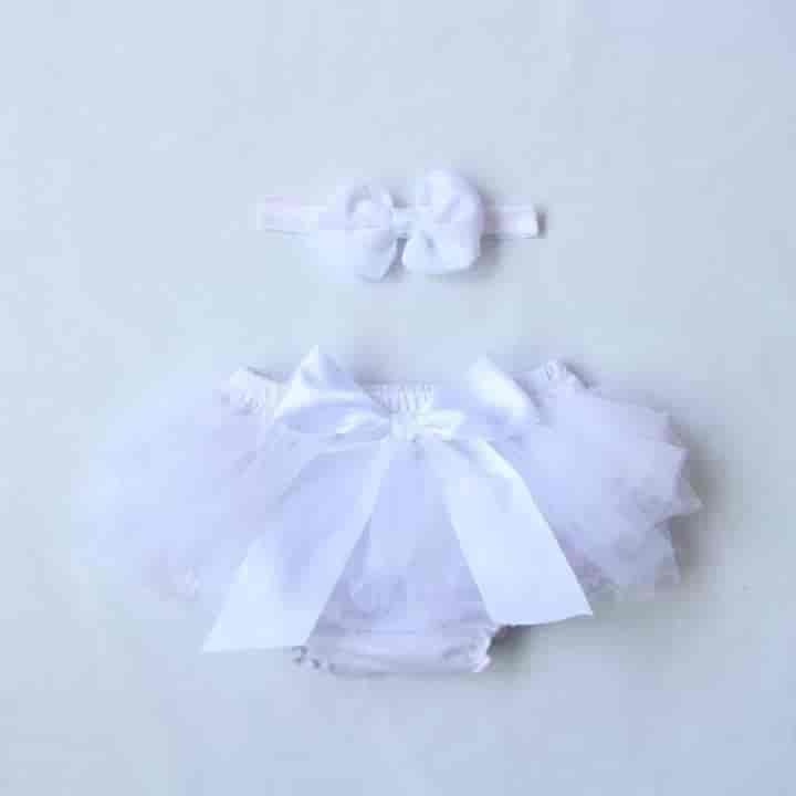 Cute Ruffle Chiffon Baby Bloomers Photo Props - mybabyflame
