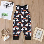 Newborn Baby Unisex Sleeveless Short &Long Romper Floral Cotton Printed Jumpsuit Playsuit - mybabyflame