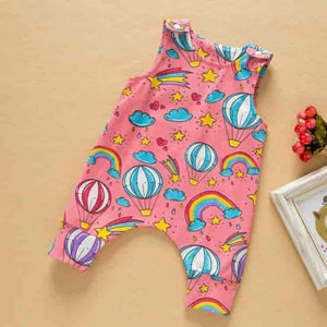 Newborn Jumpsuit Baby Unisex Sleeveless Floral Cotton Romper - mybabyflame