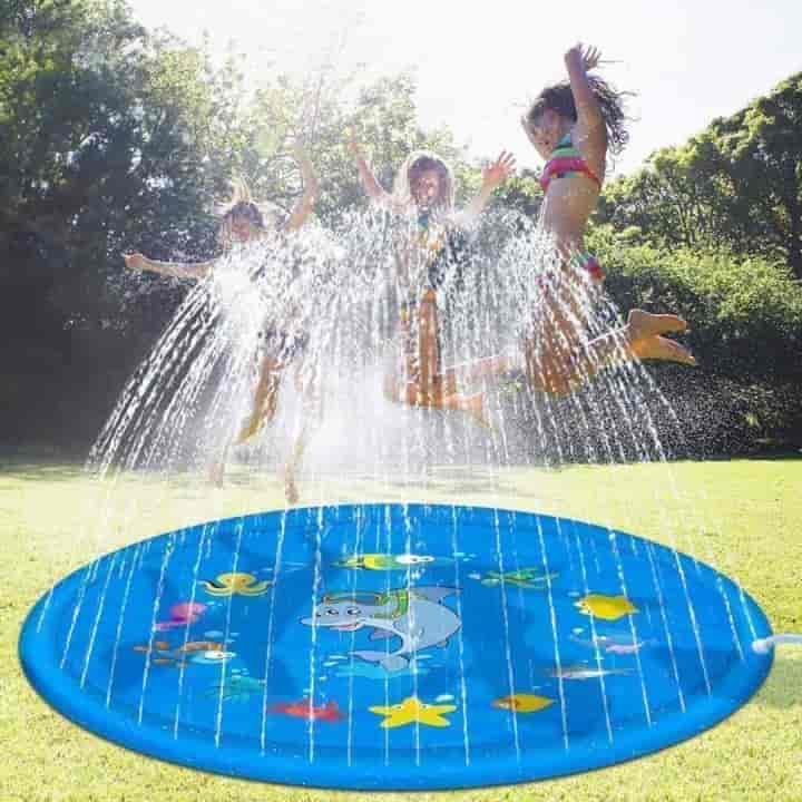 Outdoor Lawn Inflatable Kids Water Sprinkler Play Mat - mybabyflame
