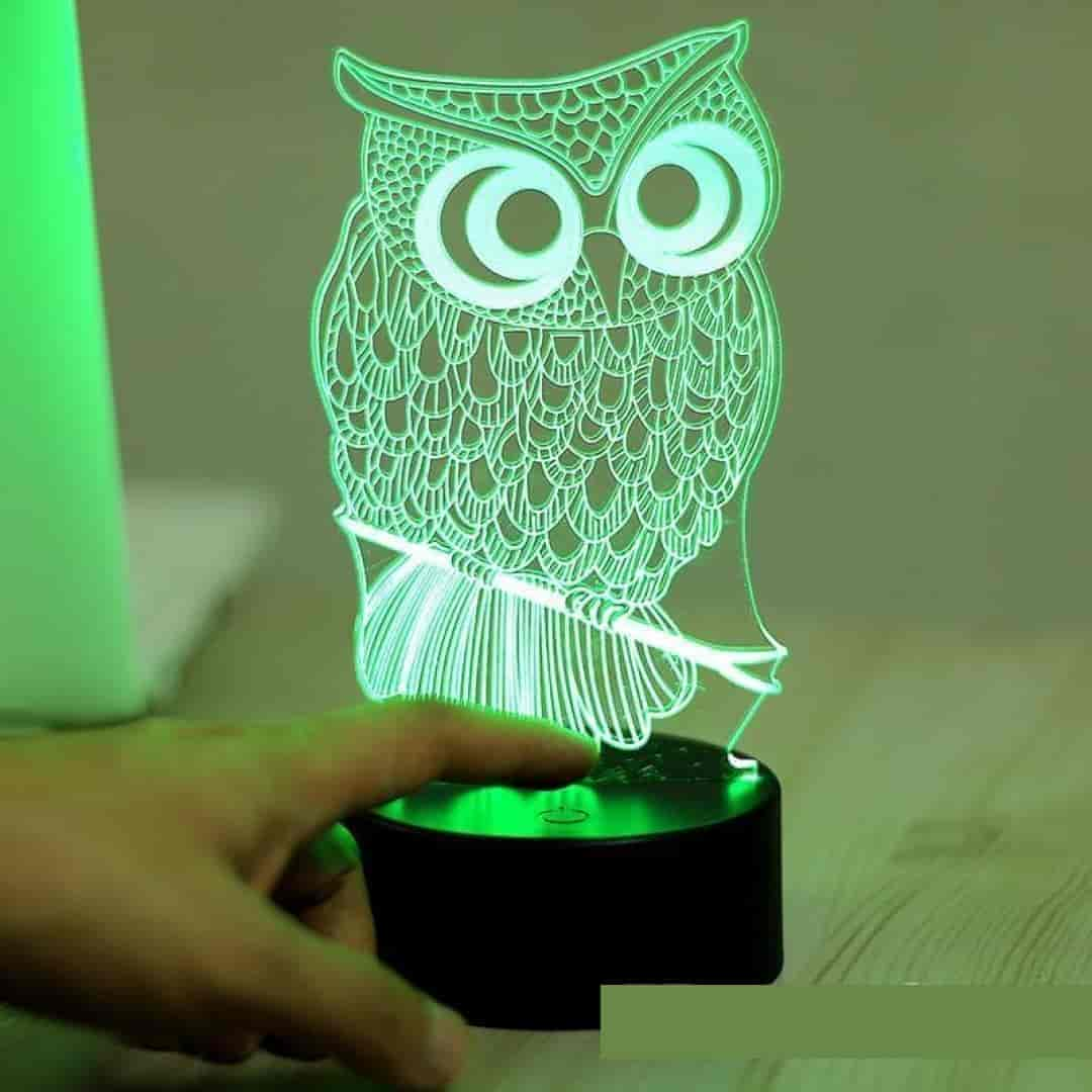 3D Owl Illusion Baby Bedside Lamp - mybabyflame