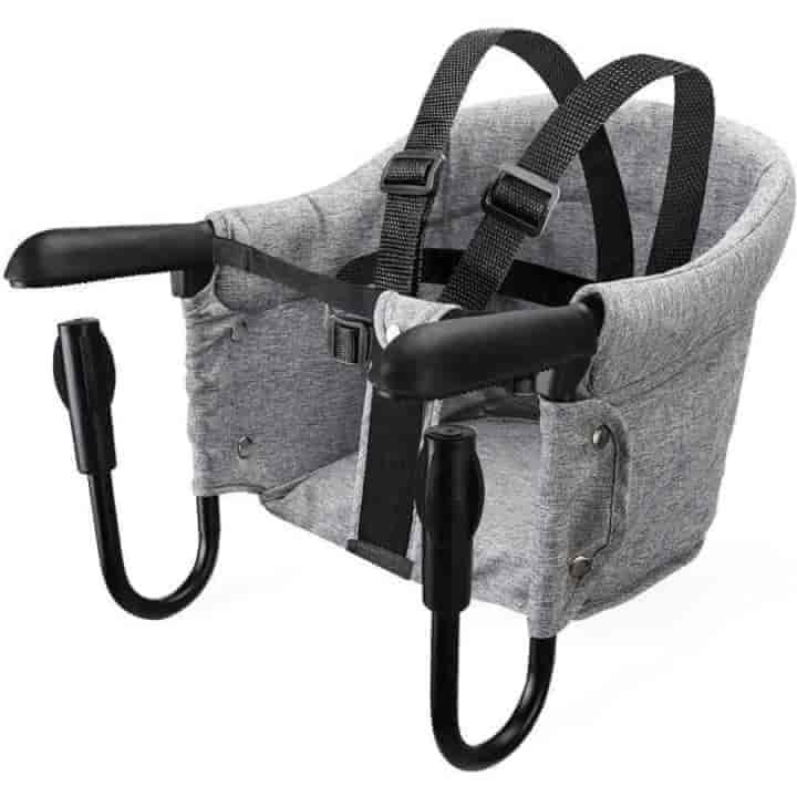 Portable Dining Foldable Baby High Chair, Booster Hook-on Safety Harness Seat - mybabyflame