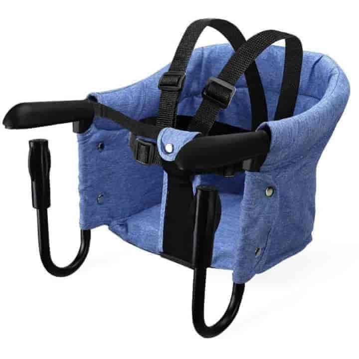 Portable Baby Dining Foldable Booster Hook-on Safety Harness High Chair - mybabyflame