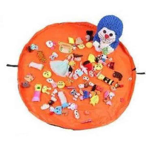 Portable Kids Toy Storage Bag and Play Mat - mybabyflame