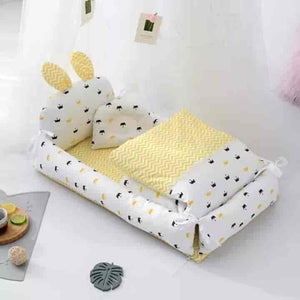 Rabbit Ear Portable Baby Crib - mybabyflame