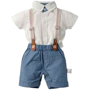 Toddler Newborn Gentleman Boys Suspenders Set - mybabyflame