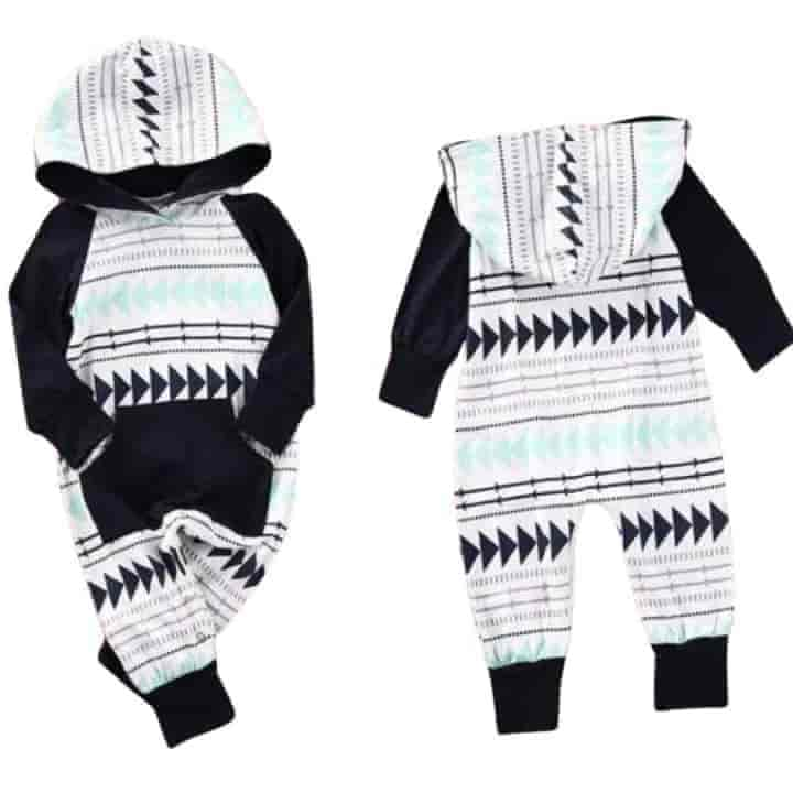 Unisex Hooded Baby Jumpsuit Clothing - mybabyflame