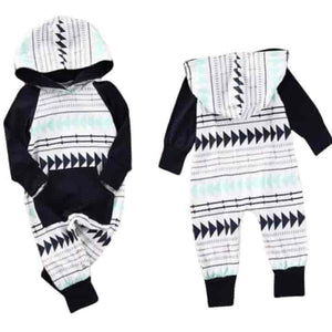 Unisex Infant Baby Rompers Jumpsuit Hooded Clothes - mybabyflame