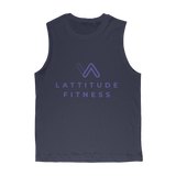 Lattitude Fitness Logo Classic Adult Muscle Top