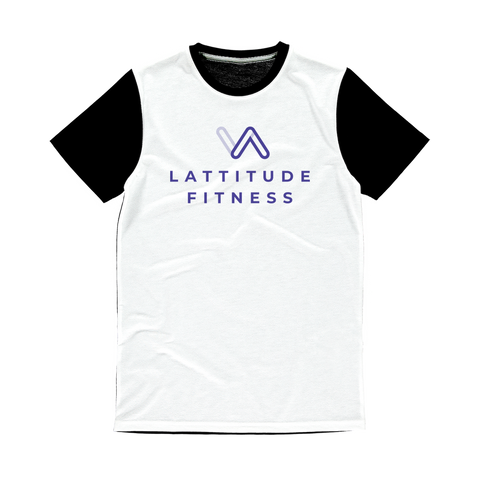 Lattitude Fitness Logo Classic Sublimation Panel T-Shirt