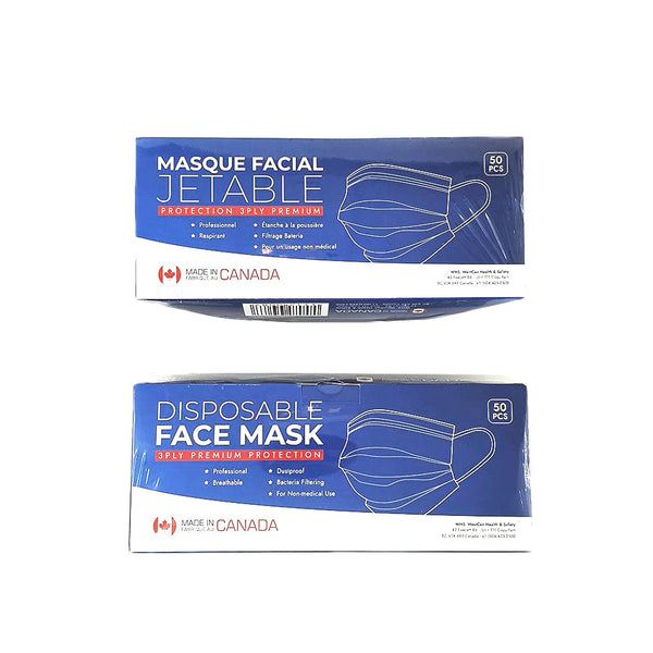 WestCan 3-Ply Disposable Face Mask (ASTM F2100 Level 3) - Box of 50