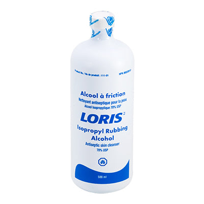 LORIS™ Isopropyl Rubbing Alcohol 500ml Bottles