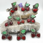 CUSTOM Choice of Retro Cherries Ring, Cuff Bangle or Necklace - Shape Of Fire Jewelry Australia