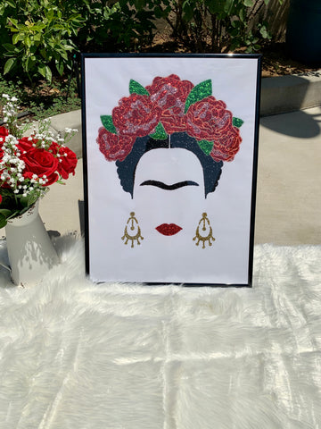 FRIDA GLITTER WALL ART
