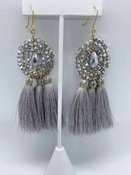 MARIA SEMANARIO CHARM BRACELET & TASSEL EARRINGS SET