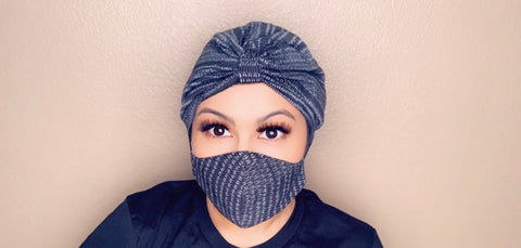 WOMEN'S MASK & FULL TURBAN SET