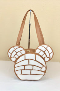 CONCHA MOUSE CROSSBODY HANDBAG- WHITE