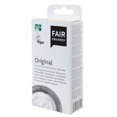 FAIR SQUARED Kondomer ORIGINAL - 10 stk - vegan, naturgummi (latex)