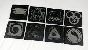 WHEEL OF TIME Inspired Slate Coasters