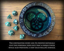 Load image into Gallery viewer, Great Serpent Dice Tray - Random Dice Included - Wheel of Time Inspired