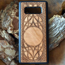 Load image into Gallery viewer, Wheel of Time Symbol Personalized Wood Phone Case