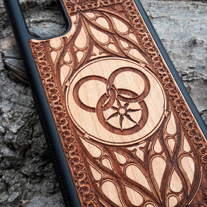 Wheel of Time Symbol Personalized Wood Phone Case