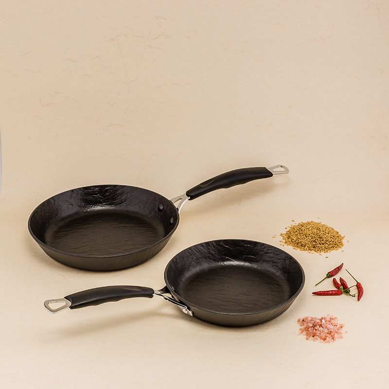 Set of 2 Rockstone Slate Effect Pans