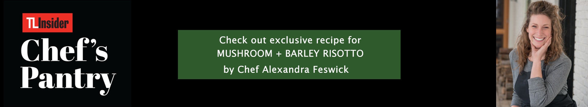 MUSHROOM + BARLEY RISOTTO Recipe by Chef Alexandra Feswick