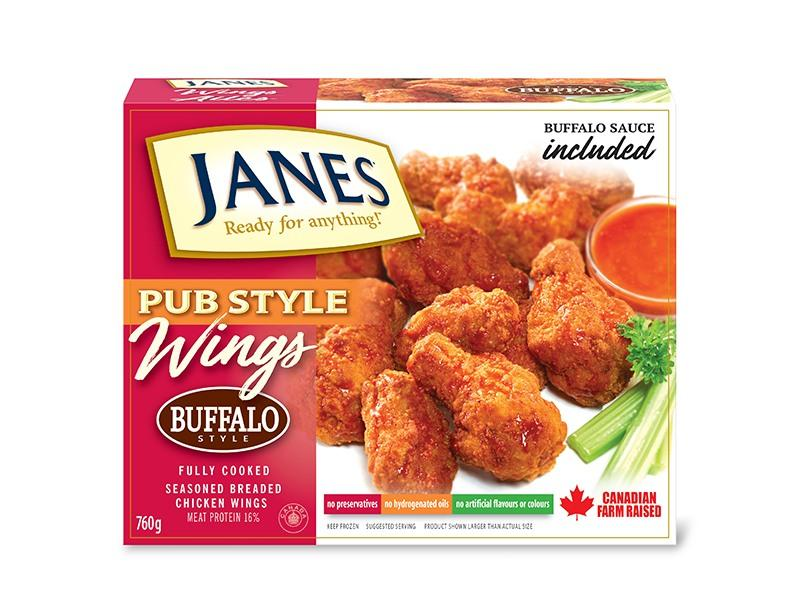 Janes Pub Style Wings Buffalo - door2doorfresh.com