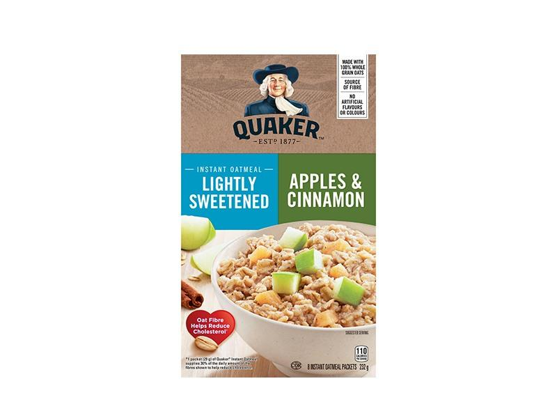 Quaker Lite Apple Cinnamon Instant Oatmeal - door2doorfresh.com