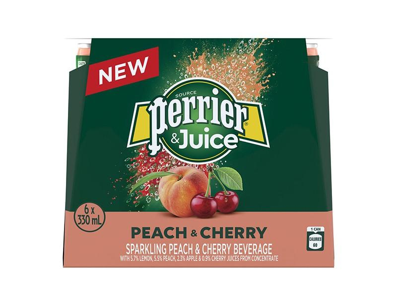Perrier &Juice - Sparkling Peach and Cherry - door2doorfresh.com