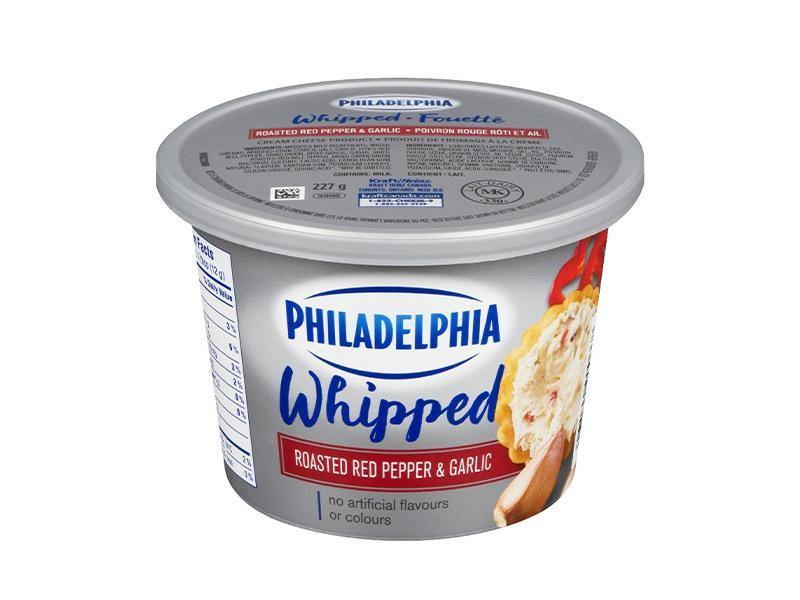 Philadelphia Cream Cheese Whipped Roasted Red Pepper Garlic - door2doorfresh.com