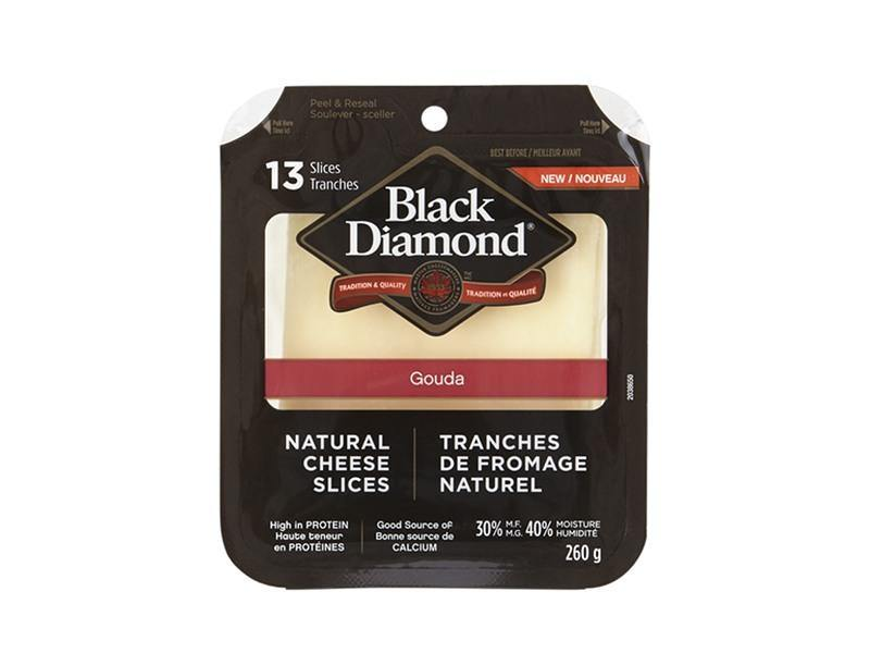 Black Diamond - Natural Gouda Cheese Slices - door2doorfresh.com