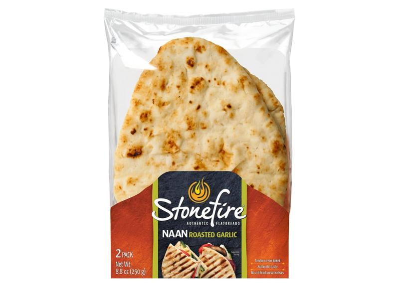 Stonefire Tandoori Naan Bread - Garlic - door2doorfresh.com
