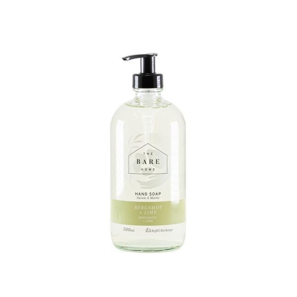 Hand Soap 500 mL Bottle - Bergamot & Lime - The Bare Home - door2doorfresh.com