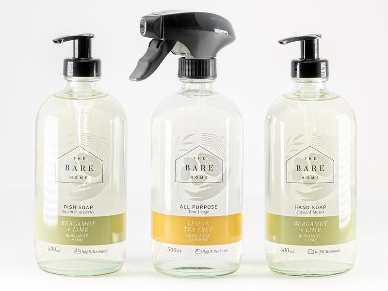 The Bare Home Essential Starter Bundle - All Purpose Cleaner, Dish Soap & Hand Soap (500mL Each) - door2doorfresh.com