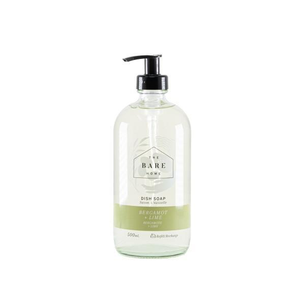 Dish Soap 500 mL Bottle - Bergamot and Lime - The Bare Home - door2doorfresh.com
