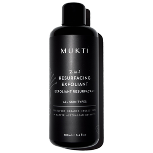 Mukti Organics 2-in-1 Resurfacing Exfoliant 100ml
