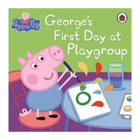 Peppa Pig: George's First Day at Playgroup (Sticker Story Book)