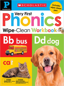 Scholastic Early Learners: Wipe Clean Workbooks - Pre-K: Very First Phonics