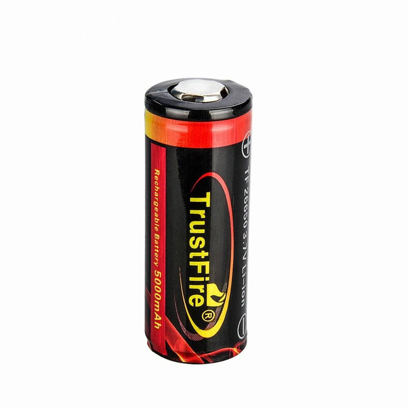 Trustfire 26650 5000 mAh Battery Rechargeable Lithium TF26650 3.7V With Protection Flat Top