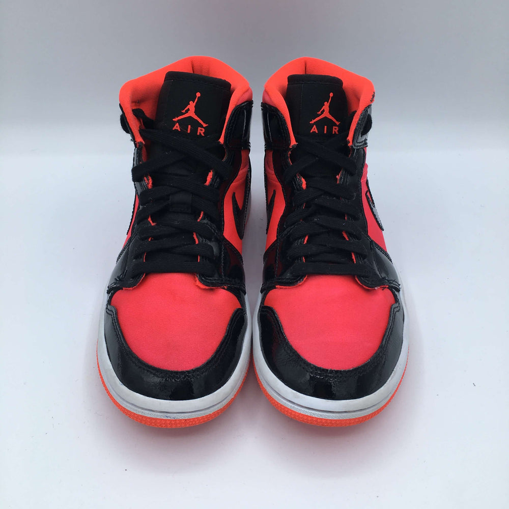 Jordan 1 Mid Hot Punch Black (W)