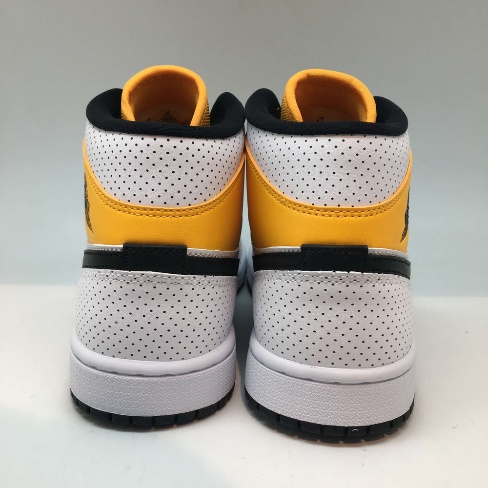 Jordan 1 Mid   White/Black-University Gold