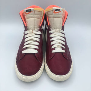Wmns Blazer Mid Leather VNTG 'Burgundy/White'