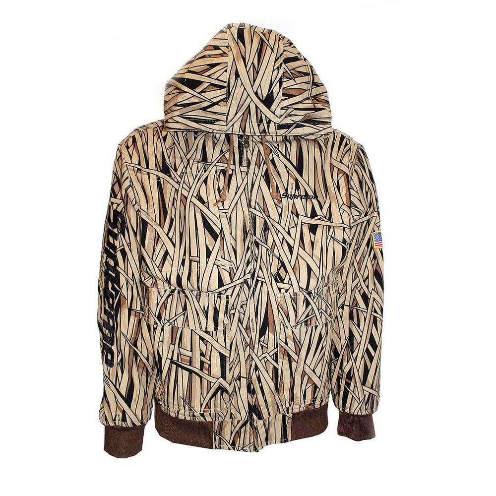 Supreme Canvas Hooded Work Jacket Marsh Camo