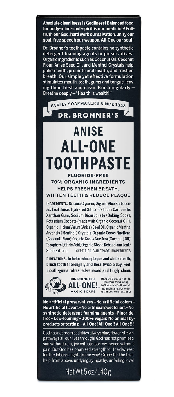 Organic All One Toothpaste - Anise - R, 140ml