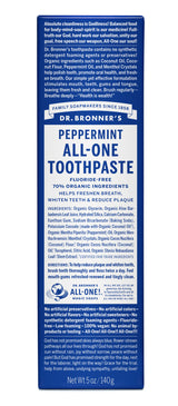 Organic All One Toothpaste - Peppermint - R, 140ml
